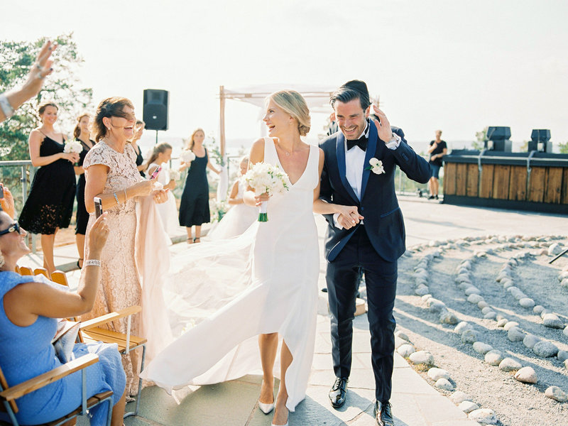 Roof top wedding at Artipelag Nacka