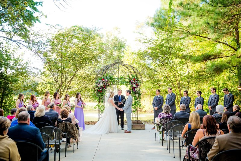 The Pond's Edge, a dreamy outdoor ceremony location by a small lake