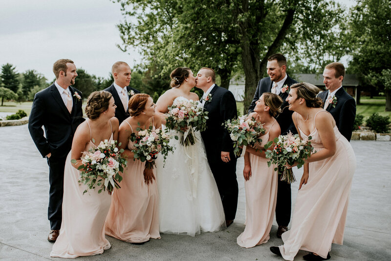 bridal party ohio wedding