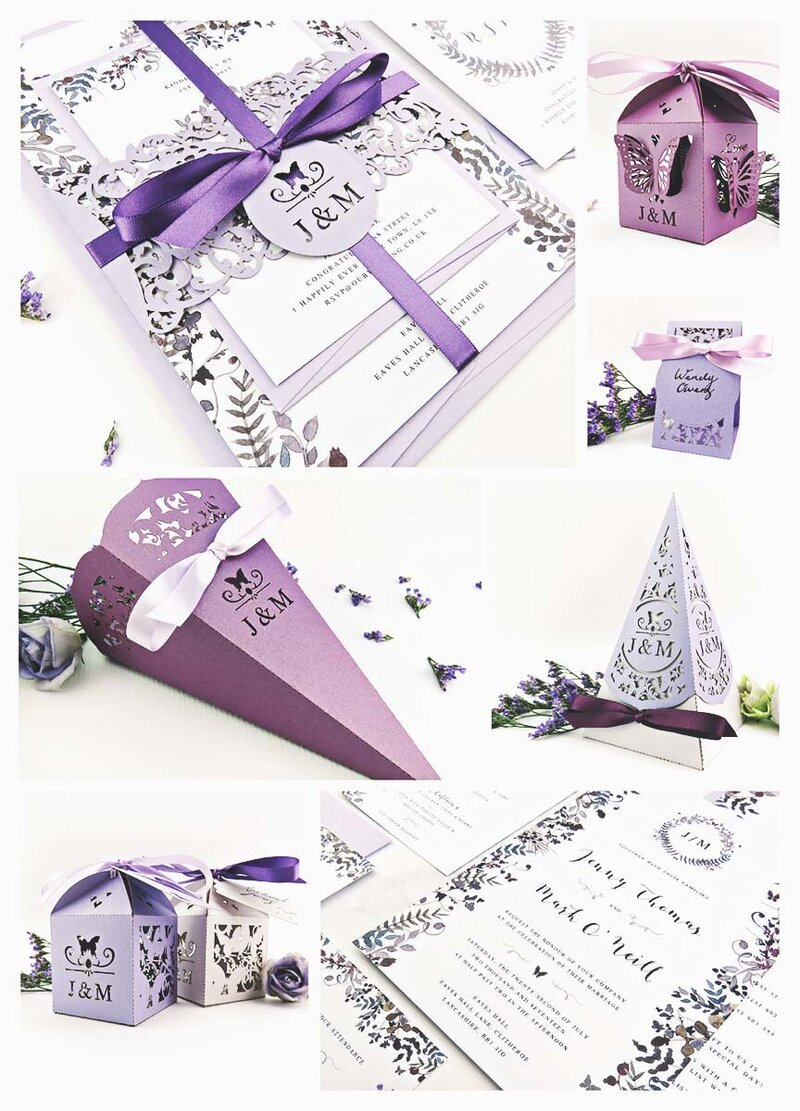 Lilac and lavender butterfly wedding inspiration