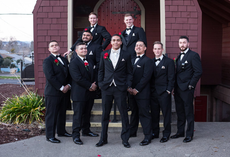 Groomsmen, formal groomsmen photo