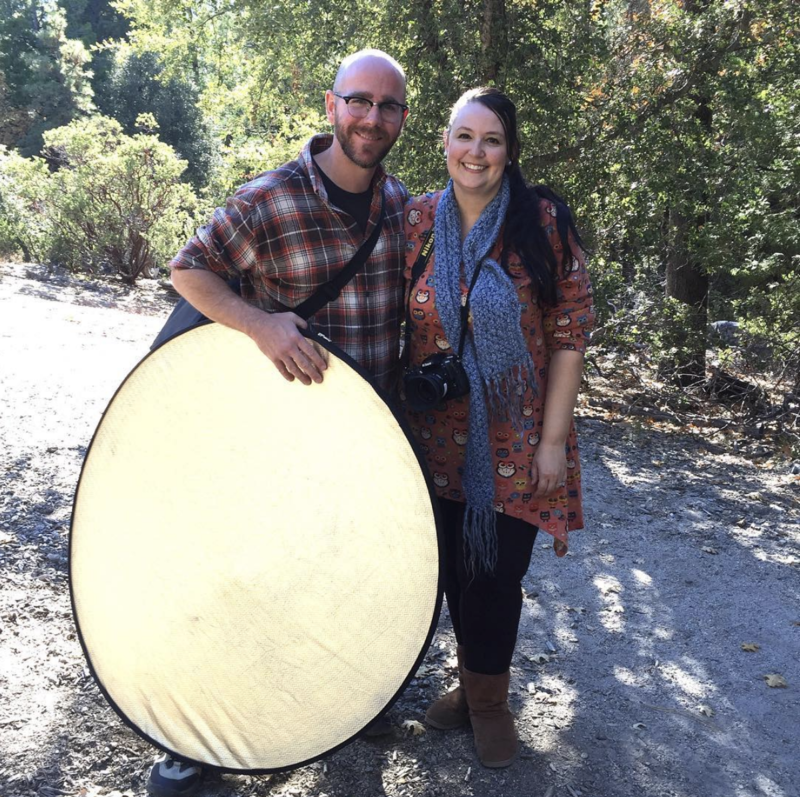 BTS Outdoor Family Session with Reflector