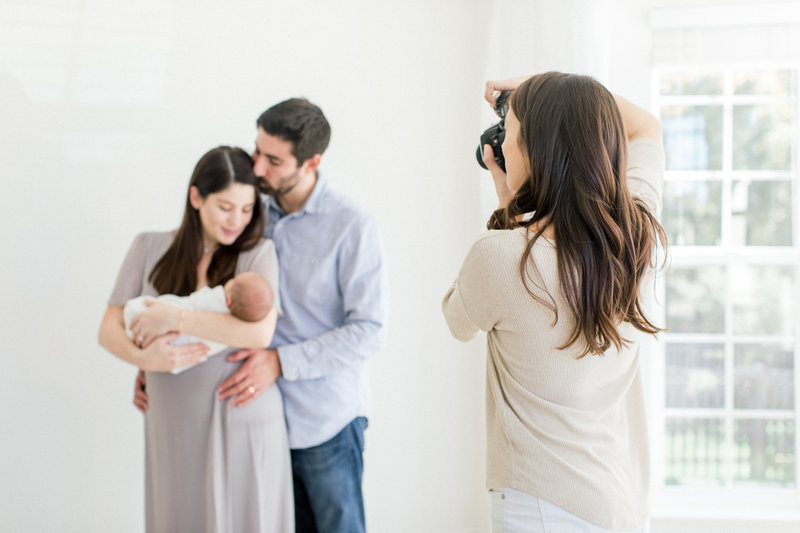 northern virginia studio newborn photographer baby bumps maternity photographer emily gerald the portrait experience session