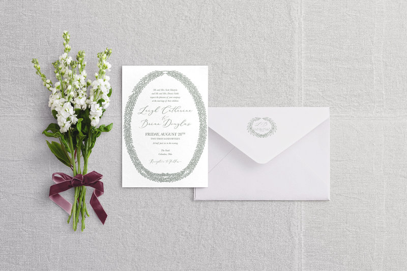 Willow wedding invitation suite - Columbus, Ohio