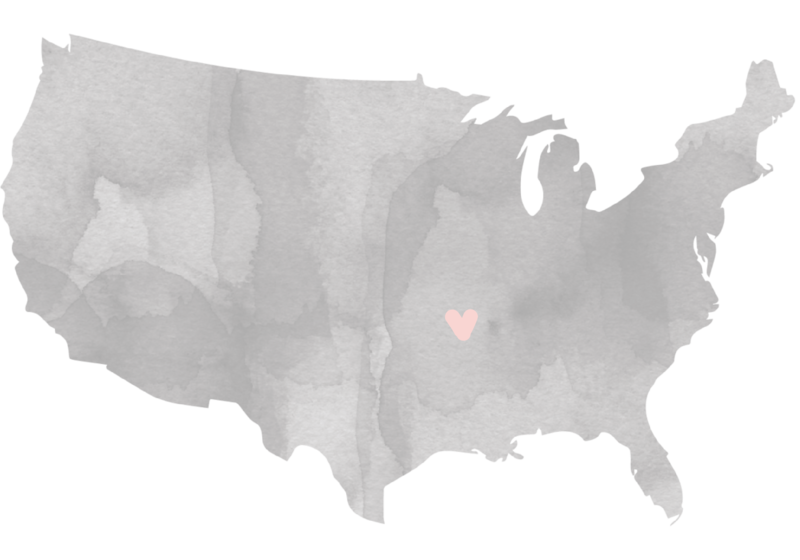 map with heart