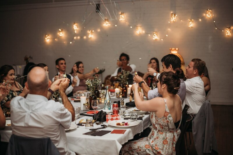 Classy wedding dinner photo |  Toowoomba