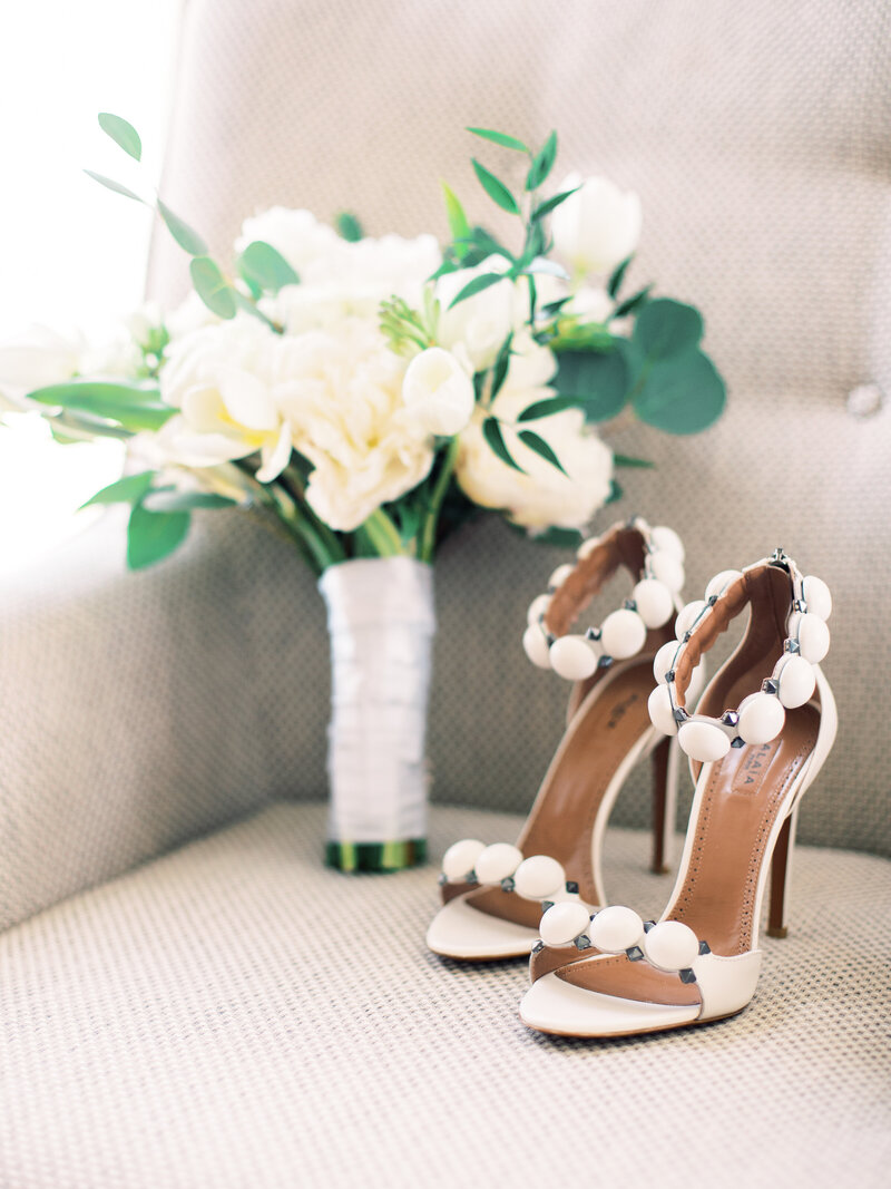 shoes and bouquet kathy romero