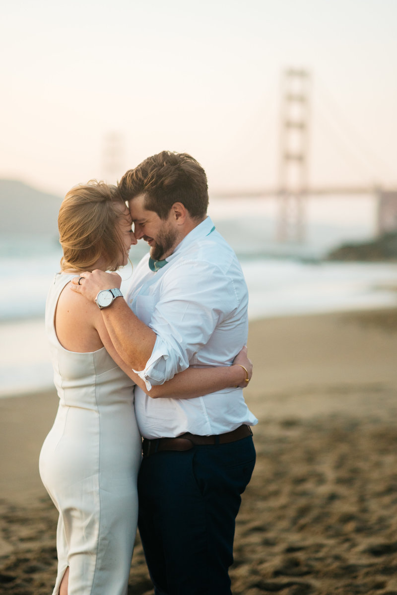 San Francisco City Hall  post wedding photoshoot baker beach