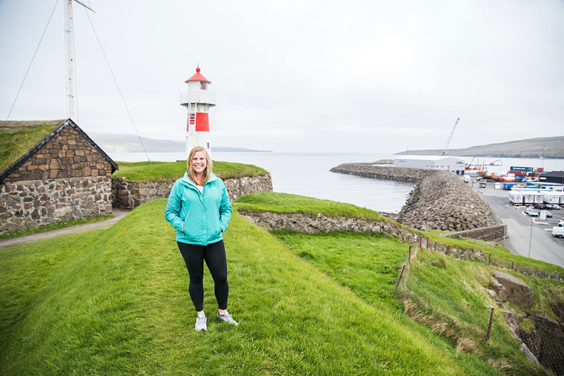 Travel blogger in Torshavn in the Faroe Islands