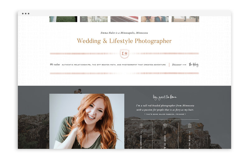 Emma Halet Photography - Custom Brand and Showit Website Design by With Grace and Gold - 23