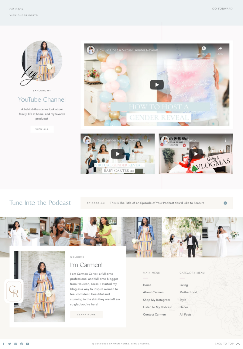 With Grace and Gold - Custom Brand Logo and Showit Website Design Web Design for Creative Entrepreneurs andn Small Business Owners - Carmen Renee Blog - 1