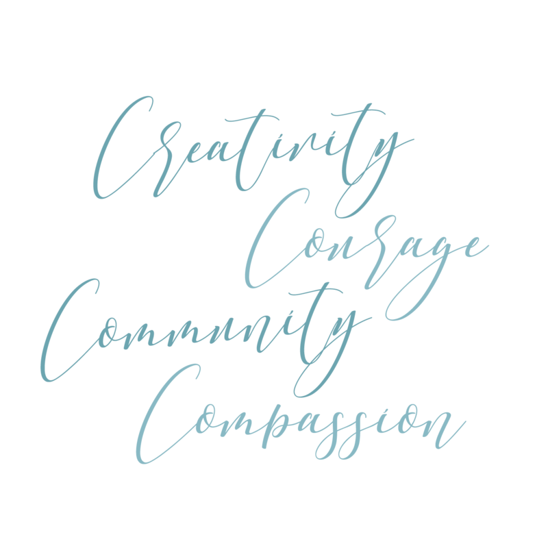 creativity, courage, community, compassion can change the world
