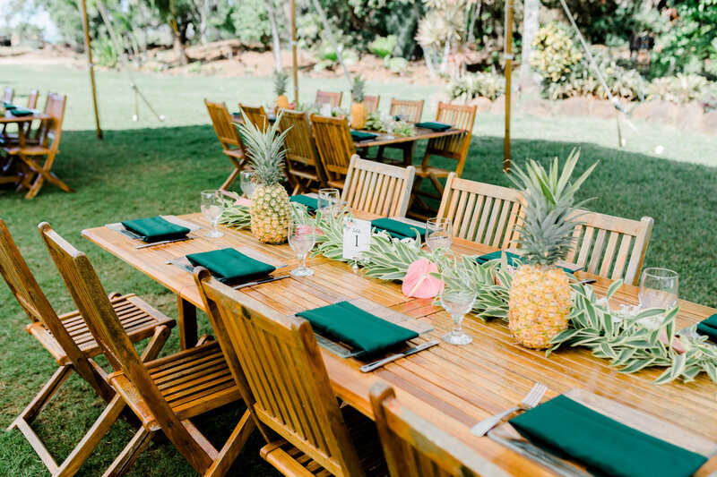 pineapple centerpieces for wedding