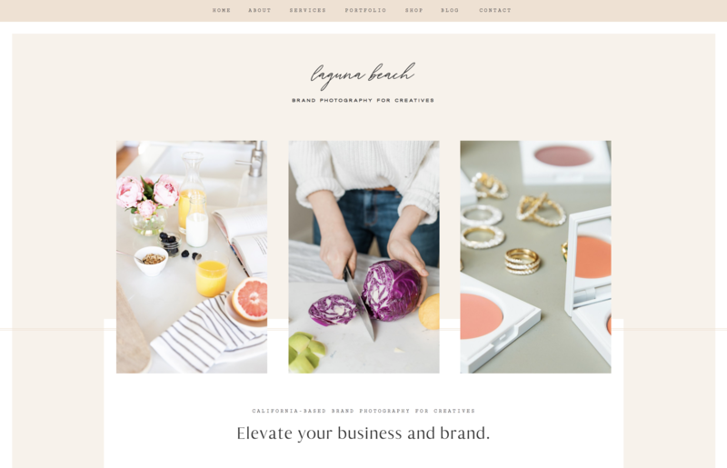 with grace and gold website template laguna beach