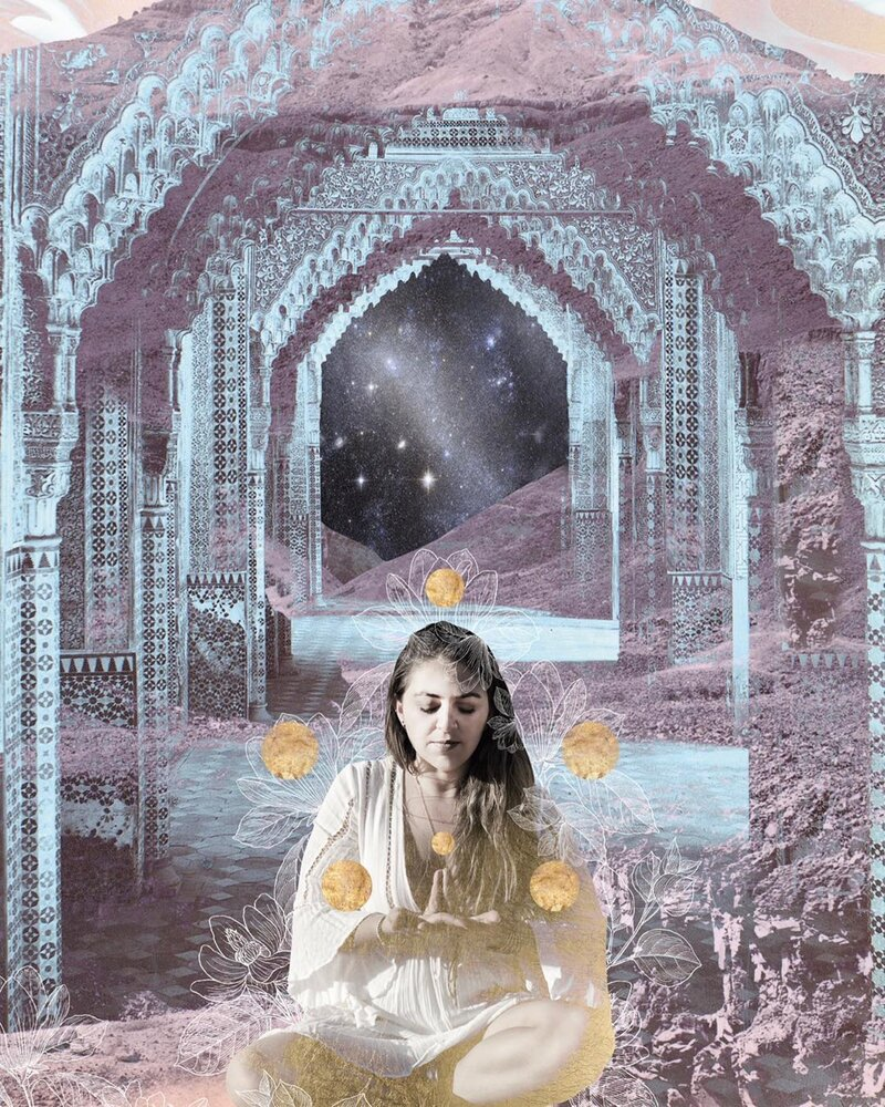 6 of Pentacles Moon Child Tarot by Danielle Noel
