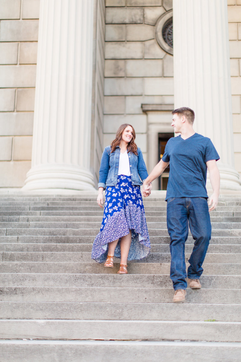 Youngstown Ohio Engagement Session in Blue