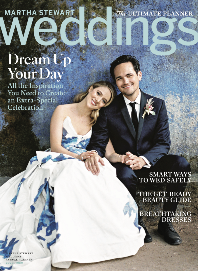 Sofia Nascimento Studios in the annual planner cover of Martha Weddings