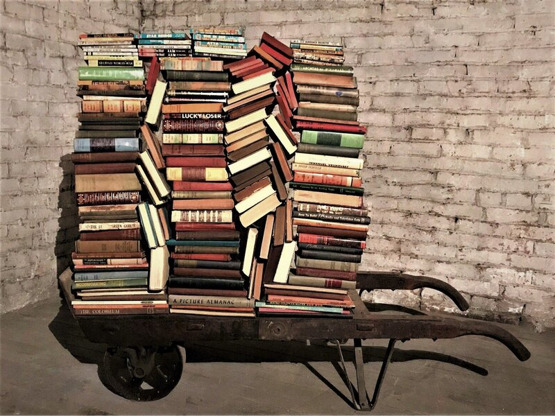cart of books