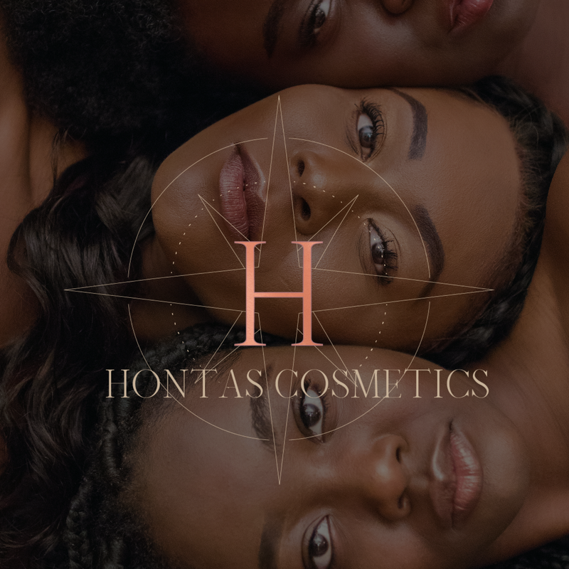 Website and logo for cosmetics brand