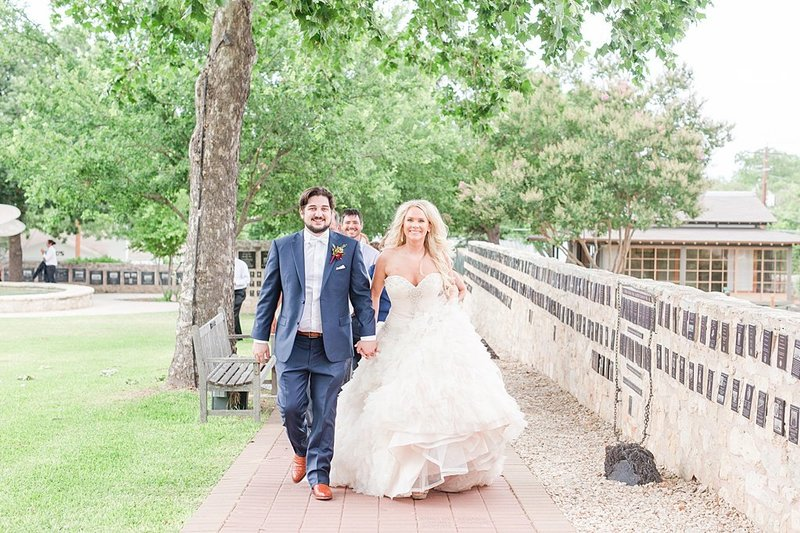 Wedding Ceremony at St Marys catholic church in Fredericksburg Texas and reception at National Museum of the Pacific war Nimitz in fredericksburg Texas Wedding Venue photos by Allison Jeffers Photography_0064