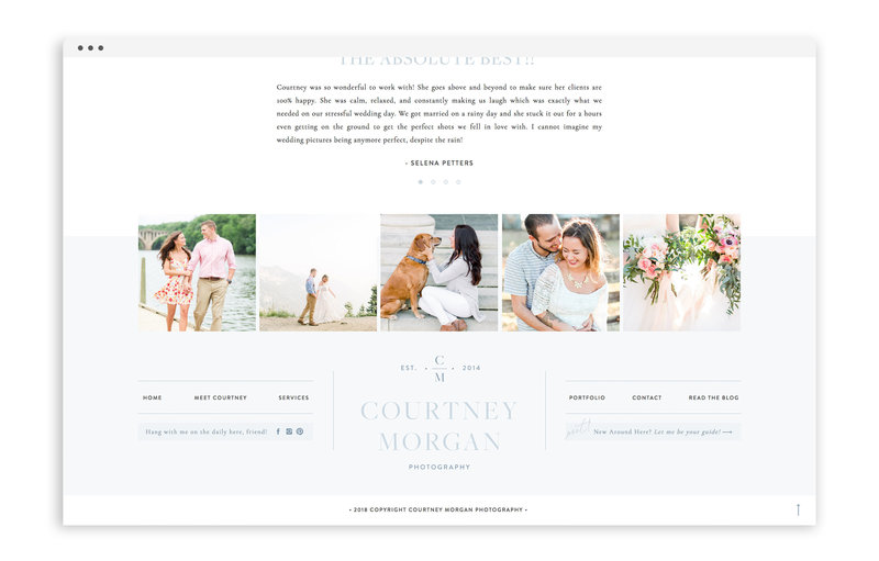 Courtney Morgan Photography - Custom Brand and Showit Web Design Website by With Grace and Gold - 30