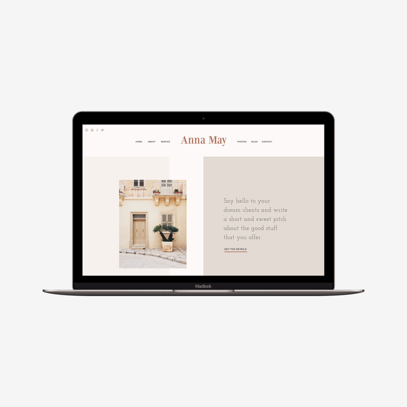 The Roar Showit Web Design Website Template Anna May Responsive Macbook