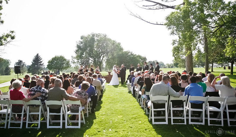 The Barn at Raccoon Creek Outdoor Golf Course Wedding Ceremony