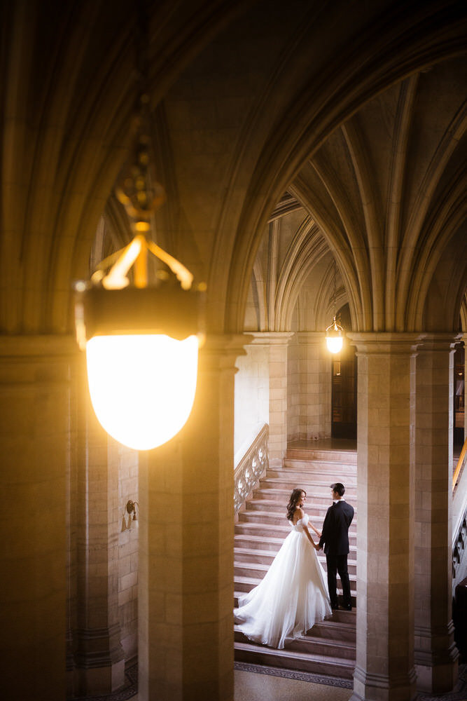 Luminous Weddings Toronto Wedding Photographers at knox college wedding