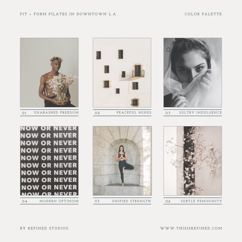 Fit and Form Moodboard for Instagram