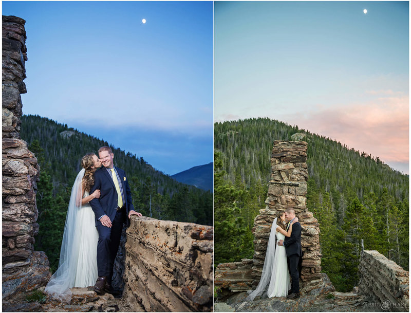 Rustic YMCA of the Rockies Mountainside Lodge Wedding Venue in Estes Park CO