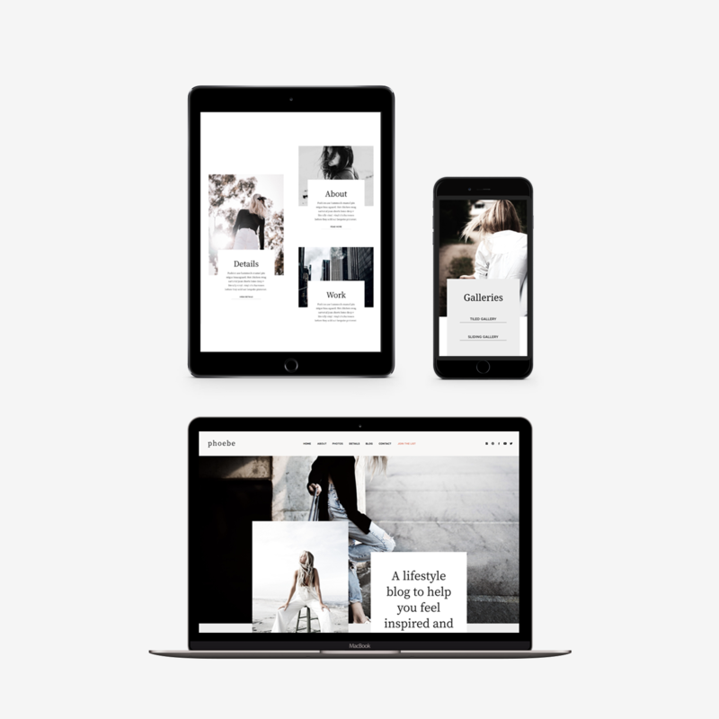 The Roar Showit Web Design Template Phoebe Responsive