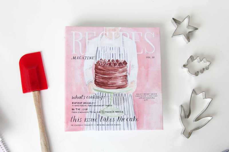 recipe binder layer cake magazine cover the illustrated life front low res