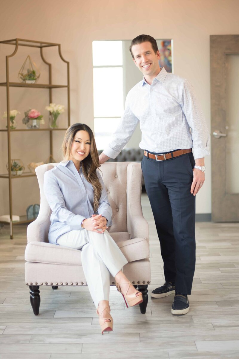 Dr. Nathan and Dr. Christine in Frisco Texas Thrive Dental Office