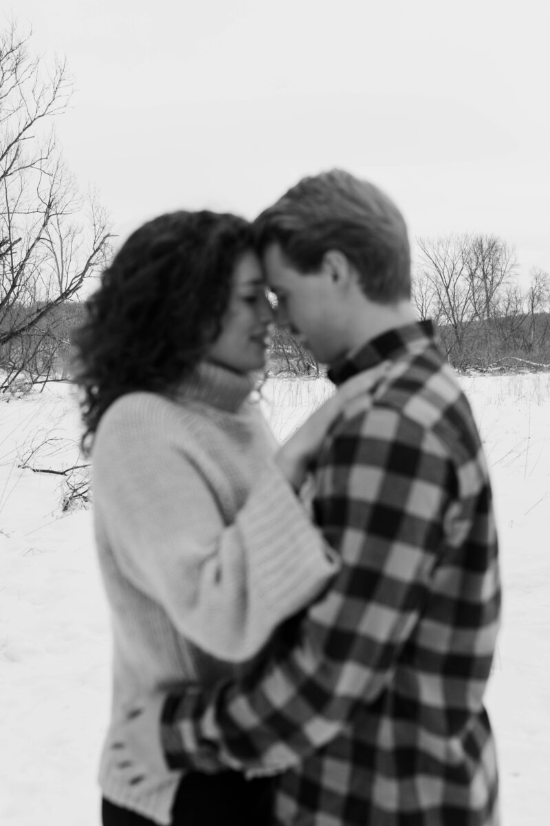 Minnesota Snowy Winter Engagement Session-26