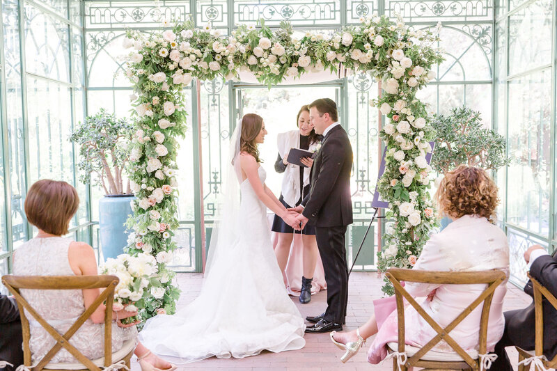 Floral Chuppah, Michele with One L, Woodland Mosaic Denver Florist, Garden Wedding, Denver Botanic Gardens
