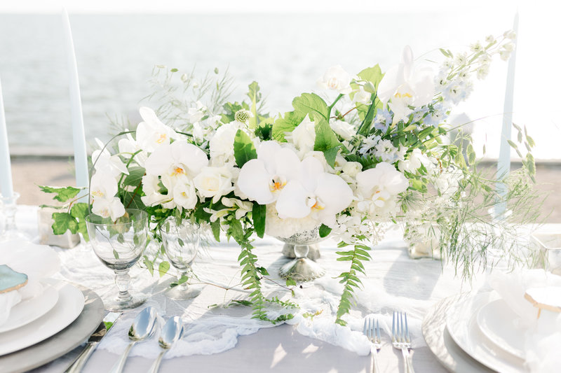 Wedding centerpiece by Branches and Blooms Design
