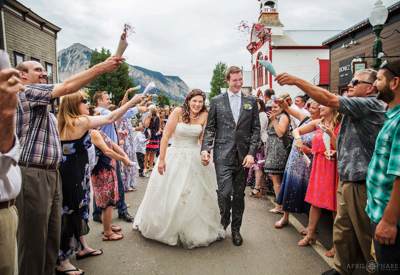 Grand-Exit-Wedding-Reception-Outside-of-Bonez-Restaurant-in-Crested-Butte-CO