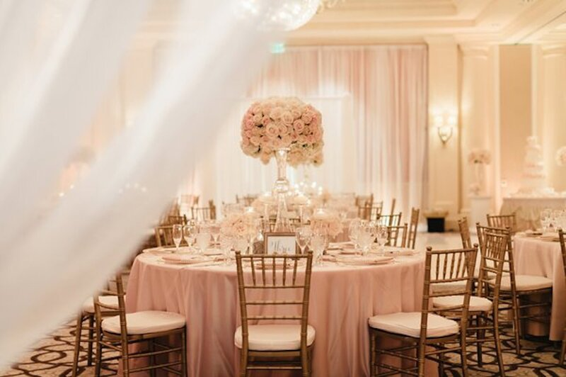 St. Regis Monarch  wall draping & up lighting