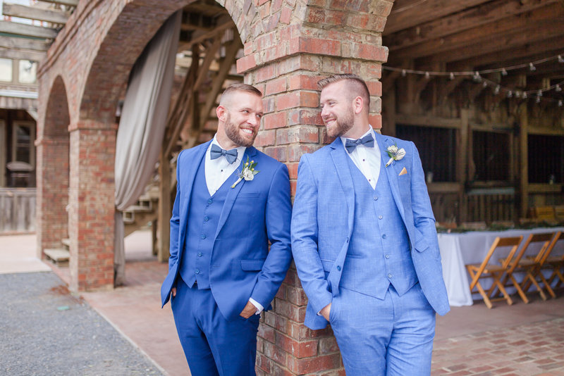 Bright and airy wedding photography at The Farm in Rome Georgia of two grooms in a same sex marriage by Jennifer Marie Studios Atlanta wedding photographer