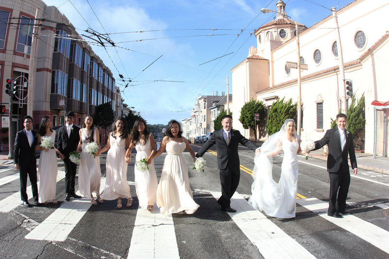 Bridal party San Francisco