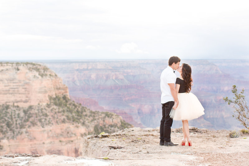 Grand Canyon Engagement Session with Tulle Skirt and Christian Louboutin  Shoes | Amy & Jordan Photography