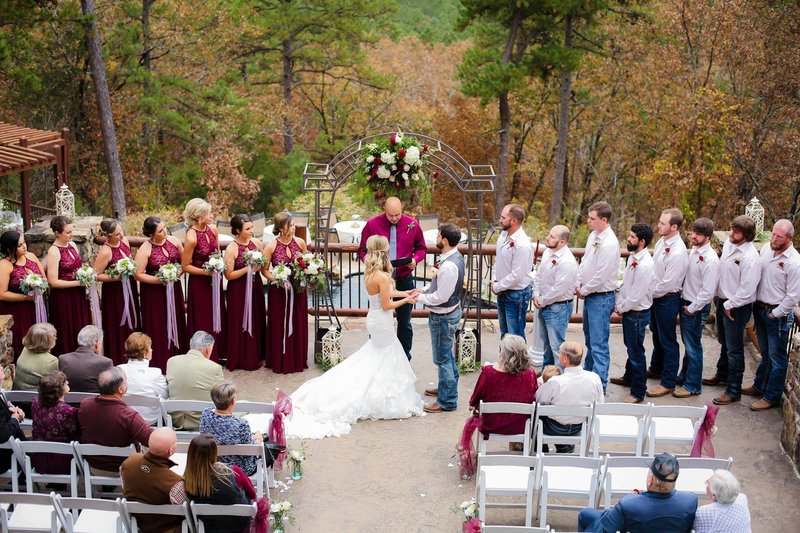 Little Rock Wedding Ceremony Space in Fall