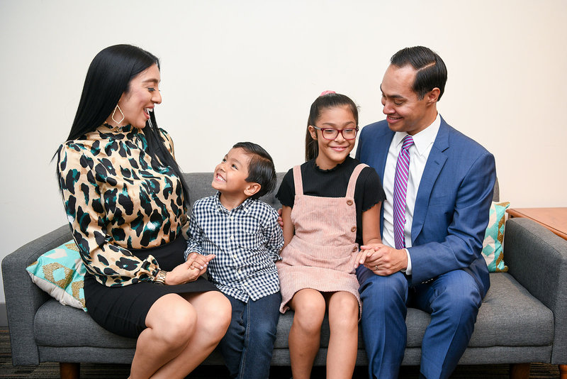 Julian Castro family wife and kids