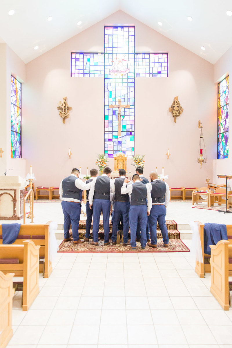 dusty-blue-navy-romantic-holy-family-church-steubenville-ohio-wedding-18