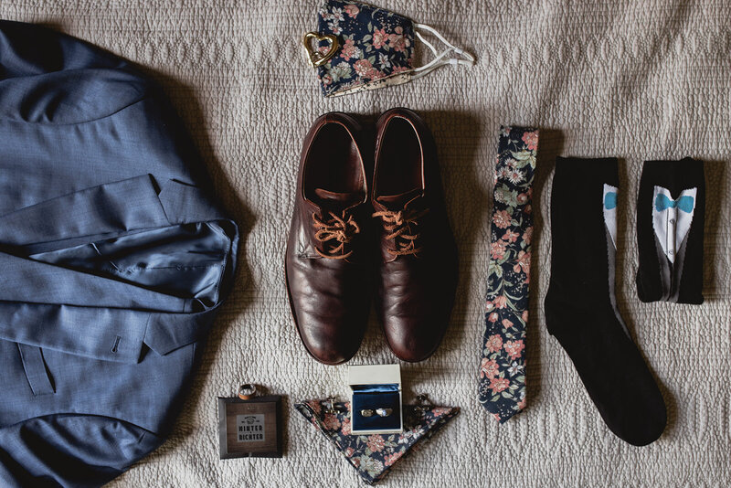 Wedding at Mount Crescent Flat Lay
