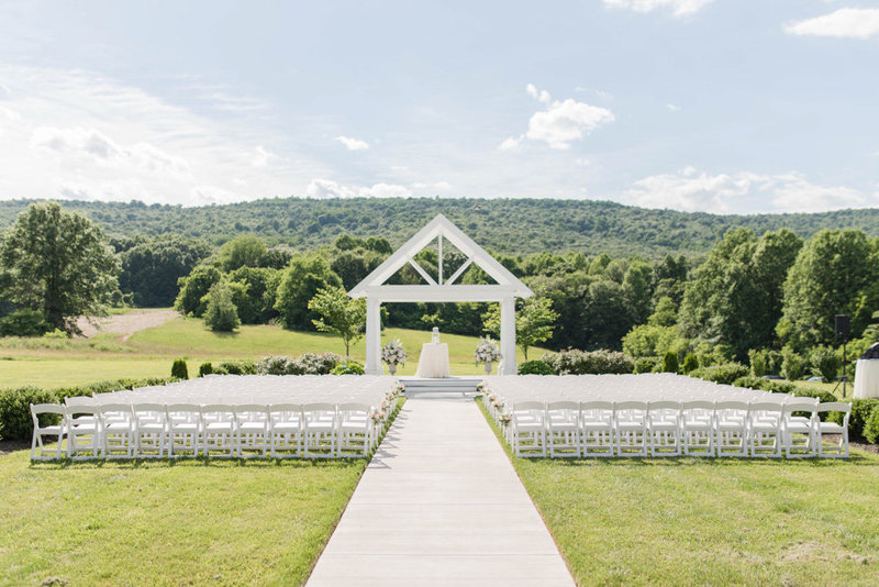 ceremony location at springfield manor winery and distillery wedding by costola photography