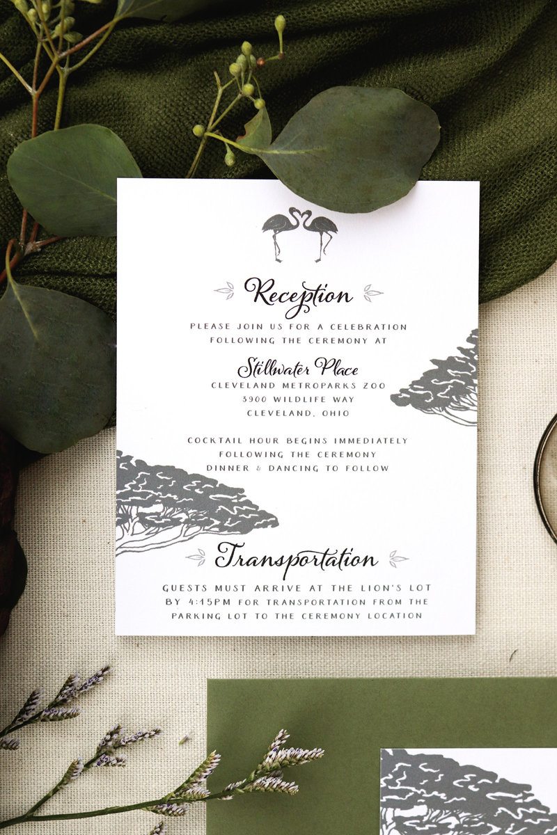 Reception/Details Card for the Zoo Safari Wedding Invitation