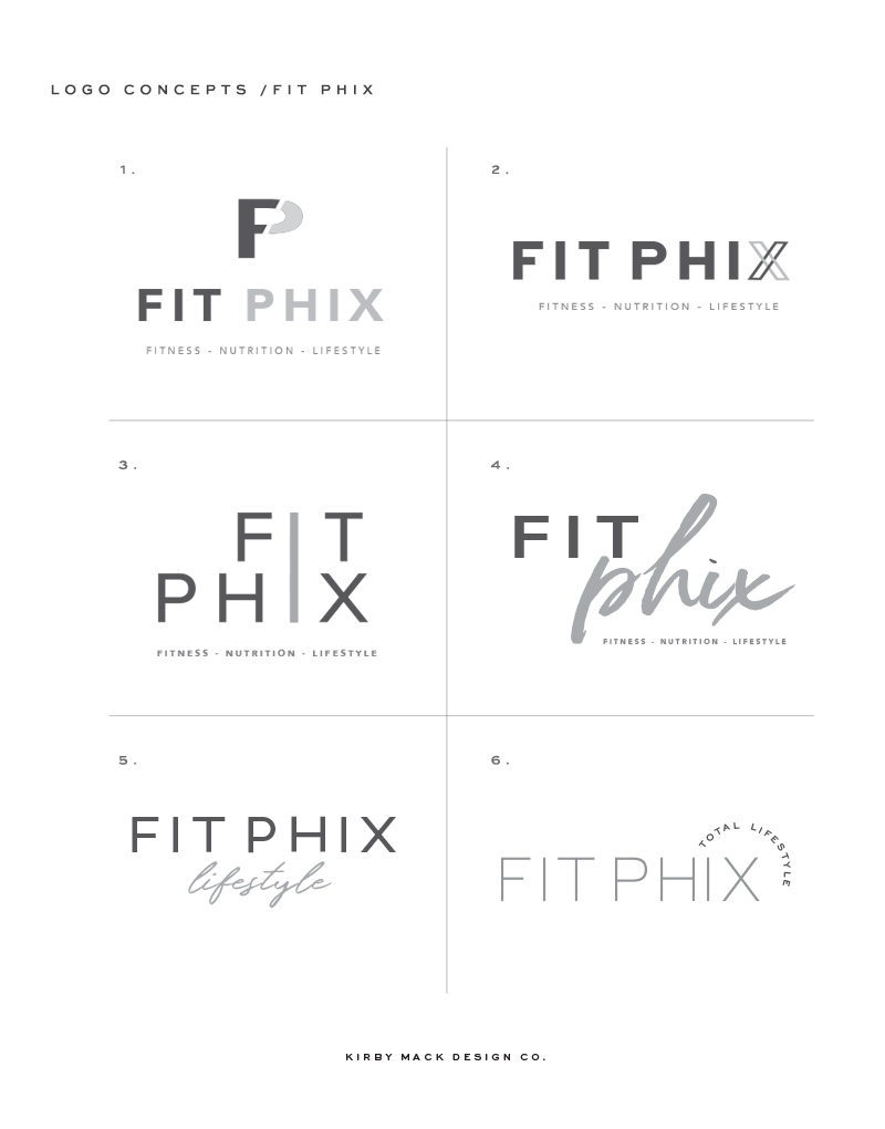 Fit Phix logo concepts