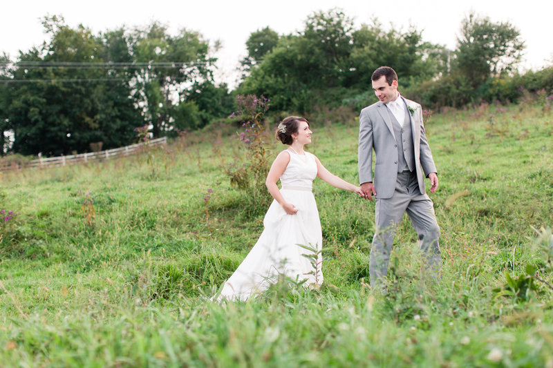 Wholesome Valley Farm wedding portrait