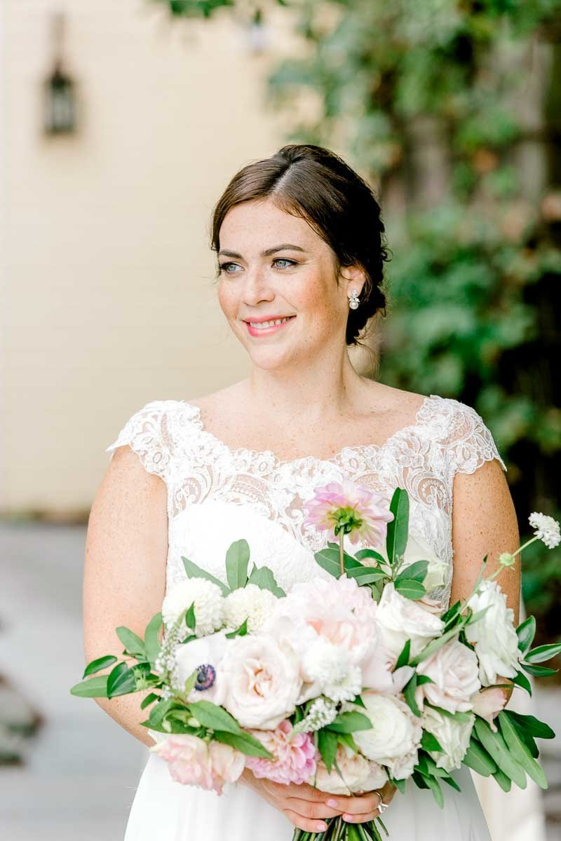 Light and Airy bridal portrait taken at the Bedford Village Inn- K. Lenox Photography